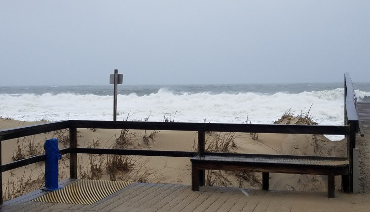 Bethany beach getting pummeled