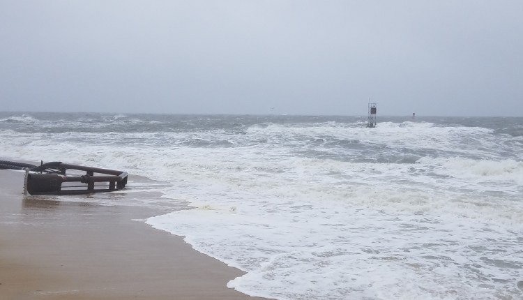 Inlet is really rough at high tide at noon today