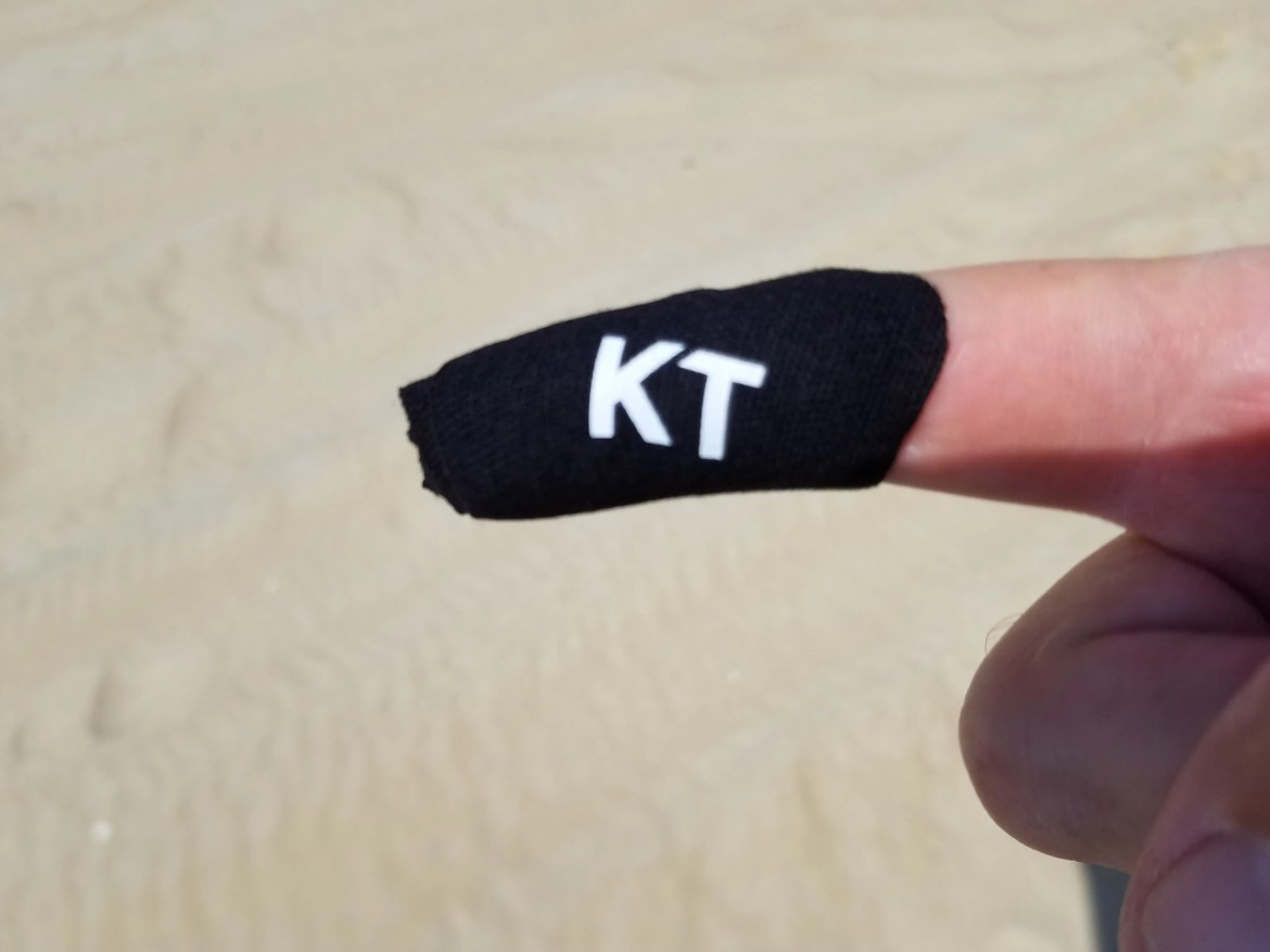 braided line,casting finger, protecting from cuts, KT tape