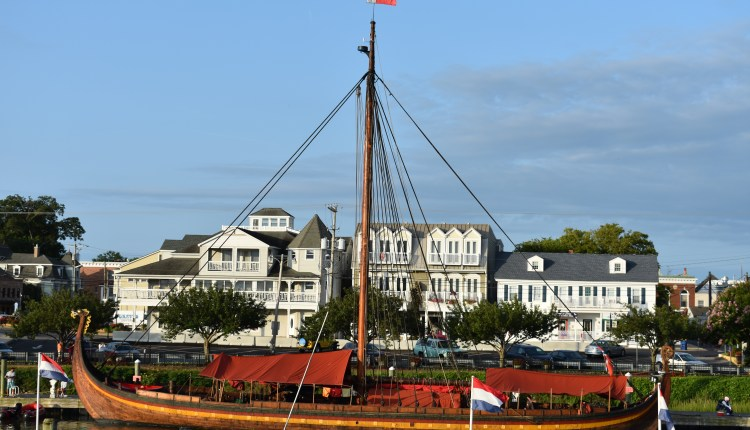 Draken Harald Hårfagre docked in Lewes