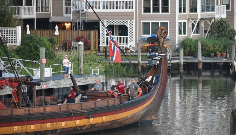 Draken Harald Hårfagre in the Lewes Canal
