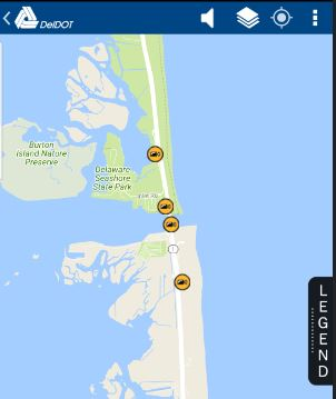 deldot app,traffic camera, web cam, delaware, sussex coutny, indian river inlet bridge, south tower, charles w cullen bridge, north beach, southside, big chill beach club, route 1, coastal highway