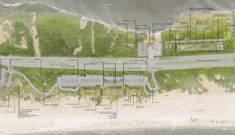 Fenwick Island State Park proposed improvements overall map