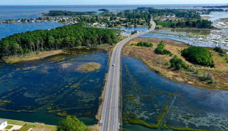 Long Neck road at Mariners cove .. photo by Driscoll drones