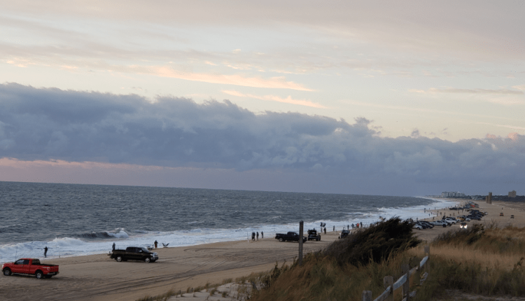 Surf Anglers lined up at daybreak
