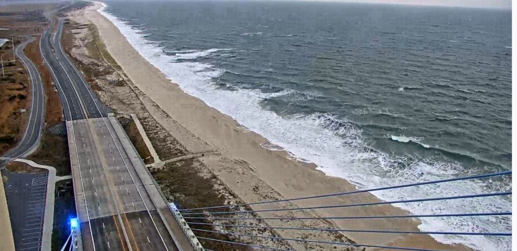 deldto traffic cam, delaware seashore state park, sussex county, coin beach, coastal storm watch, noreaster, faithful steward, life saving station, old inlet,