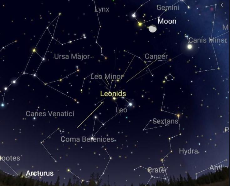 Leonids meteor shower, delaware, sussex county