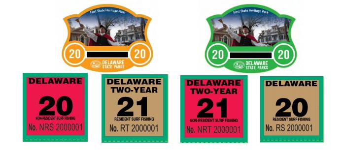 delaware state park permit stickers, 2020,