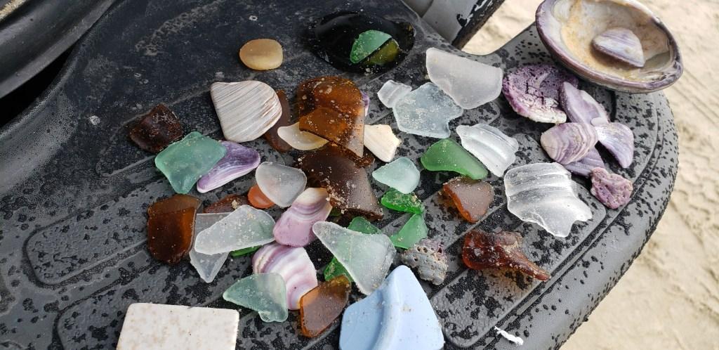 sea glass, china, porcelin, pottery, delaware beaches, delaware seashore state park, sussex county, delaware surf fishing