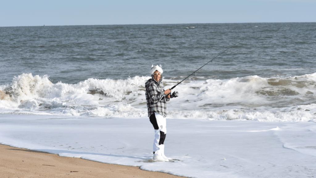 fall fish bowl 2019, surf fishing  tournament, delaware seashore state park, big waves, 3rs drive on beach