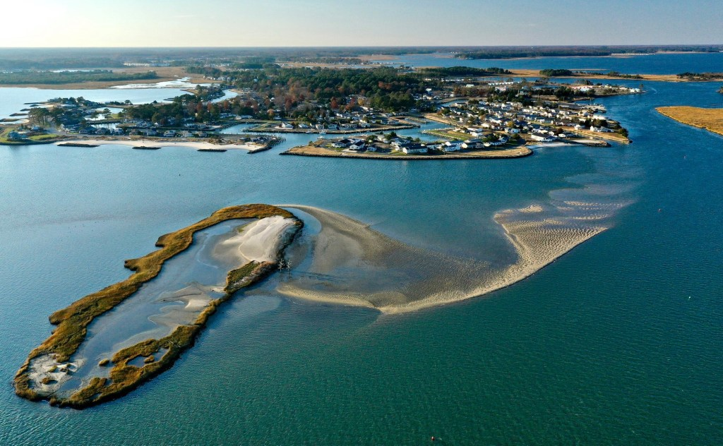 masseys ditch dredge project, delaware, inland bays, long neck, sussex county, middle island