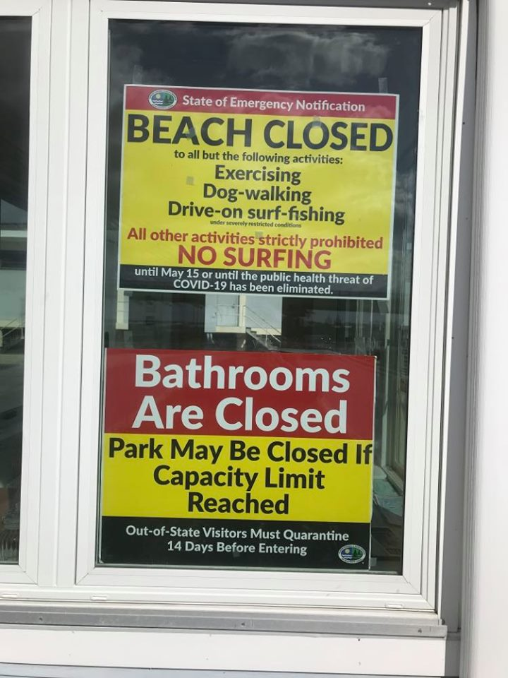 delaware state parks, covid 19, state of emergency