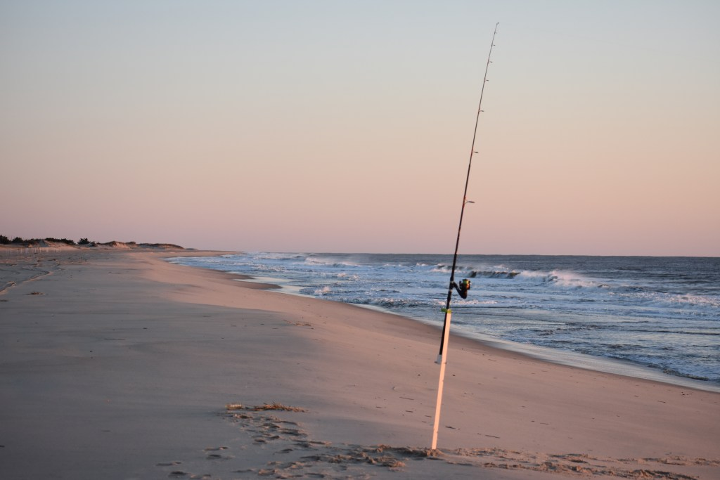 Faithful steward crossing, delaware seashore state park, surf fishing, covid19 , coronavirus, sussex county, surf rod, sand spike, soo phat outfitters