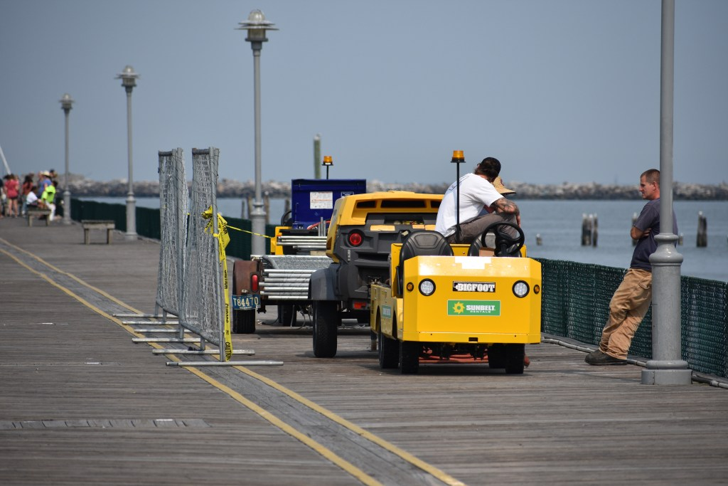 cape henlopen fishing pier repairs, delaware surf fishiing, lighthouse view bait and tackle, dsf