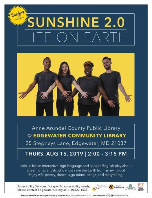 Sunshine 2 0: Life on Earth in ASL/English in Edgewater