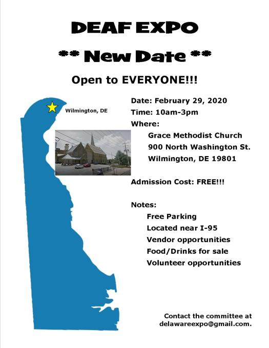 Delaware Deaf Expo on Feb. 29, 2020 at Grace Church in Wilmington