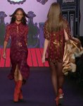 Earthy Green Woodstock Chic and Glitter at Anna Sui