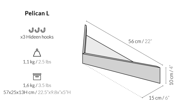 Balda Pelican tamaño grande de Woodendot