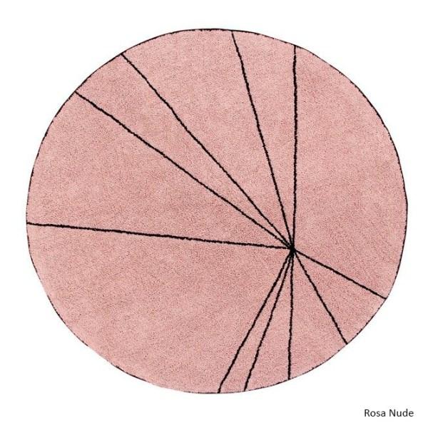 Alfombra lavable Trace rosa de Lorena Canals