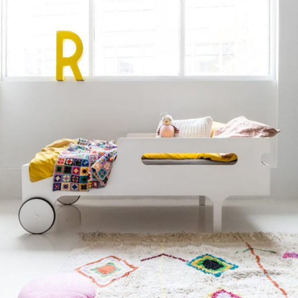 Cama R Toddler de Rafa Kids acabado blanco laca