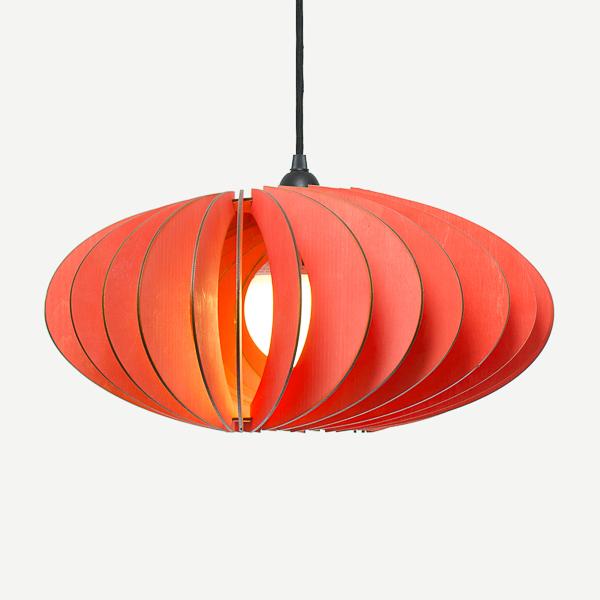 Lámpara Nefi de Iumi rojo
