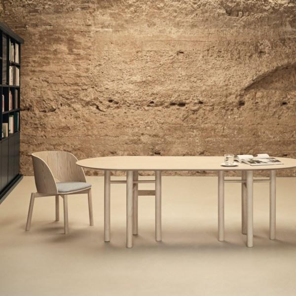 mesa junco de madera de madera de fresno