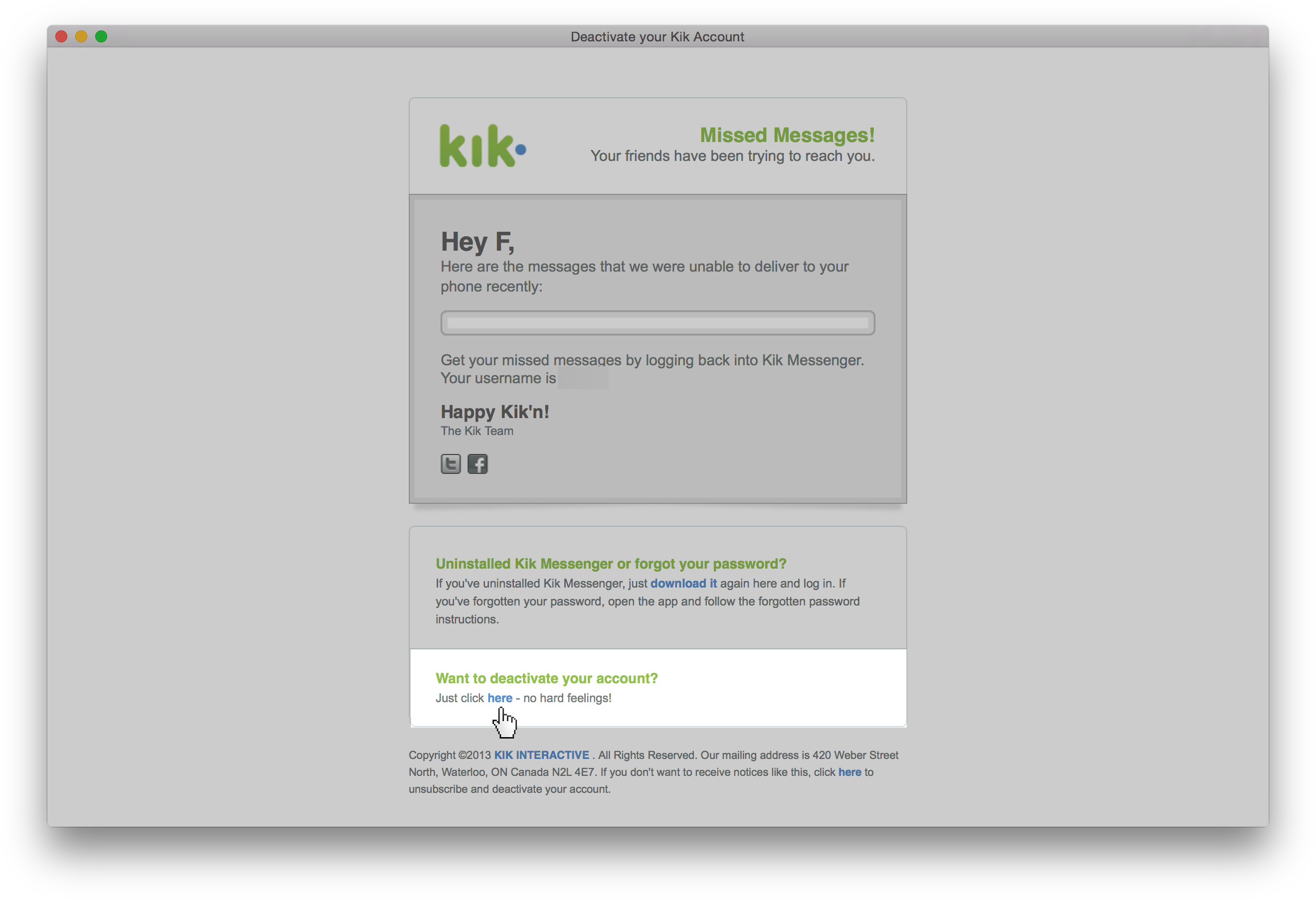 Remove Kik Messenger