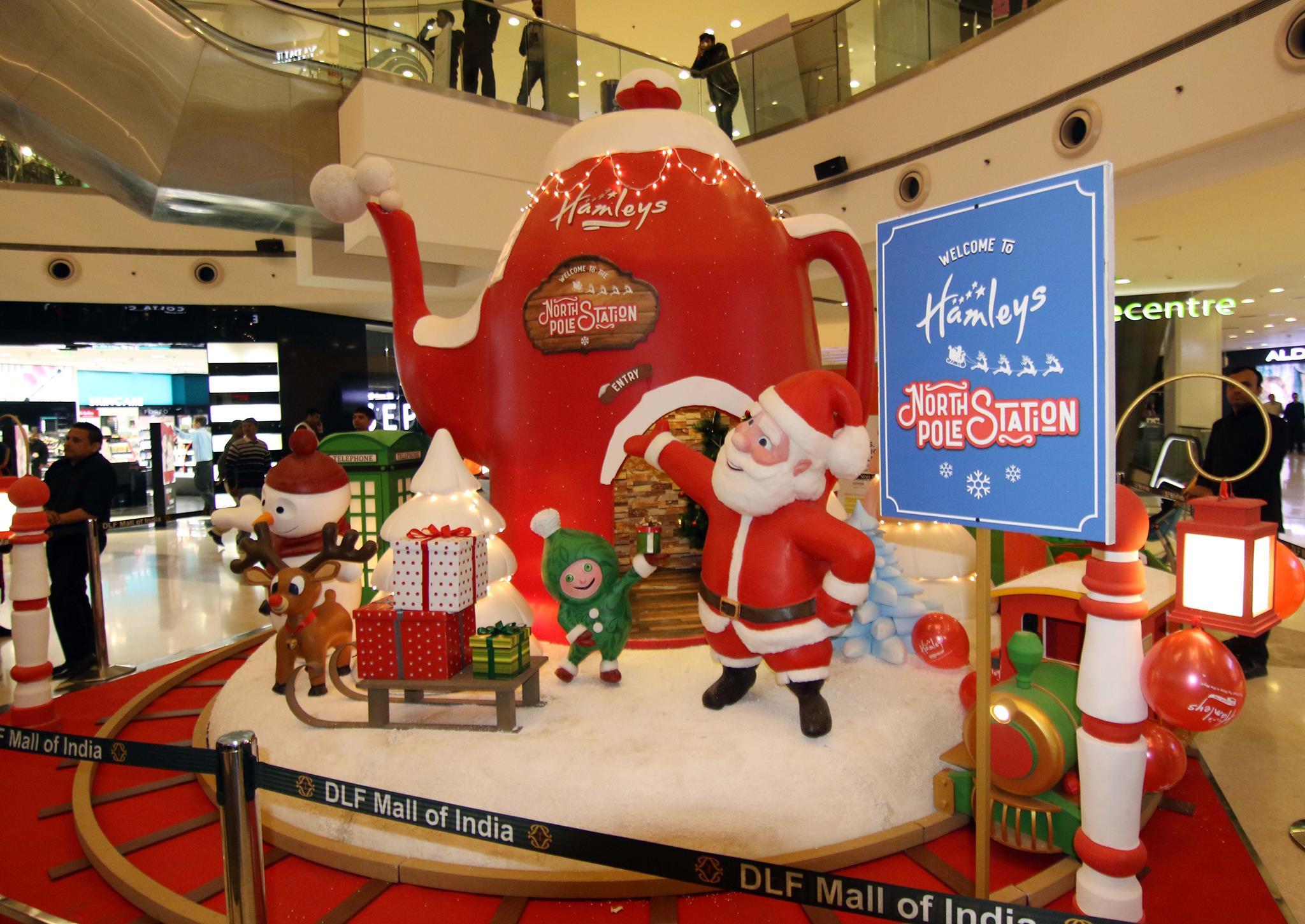hamleys north pole setup at dlf mall of india