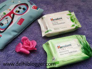 Himalaya facial wipes, delhiblogger