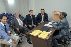 Prof Madan DLA Award Winning Faculty speaking to Mongolian Embassy personnel