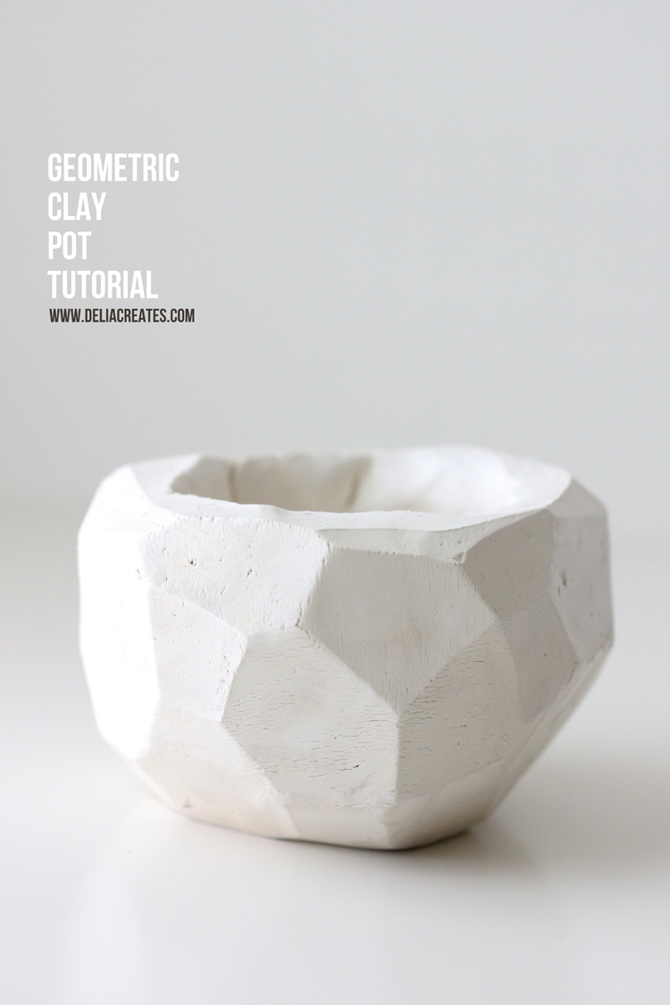 DIY Geometric Clay Pot Tutorial - Delia Creates