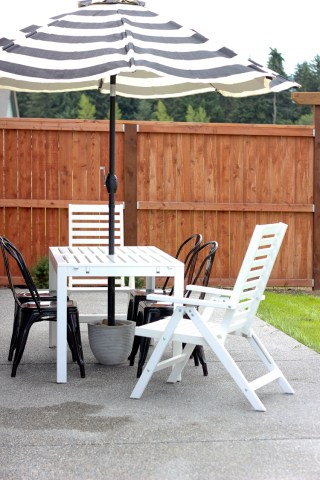 DIY Patio Umbrella Stand Tutorial Easy DIY Patio Umbrella Stand Tutorial   for under  20      www