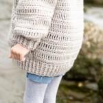 Oversized Crocheted Cardigan Free Pattern Tutorial