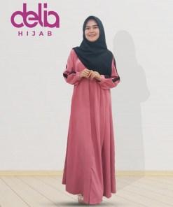 Della Dress - Baju Muslim Casual - Baju Gamis Modern - Baju Gamis Murah dan Cantik - Baju Gamis Model Sekarang - Delia Hijab Sukabumi - P