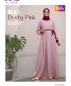 Baju Gamis Casual - Gamis Nibras NB A59 - Delia Hijab - DusPink