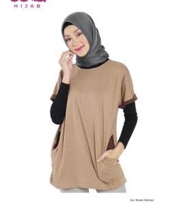 Baju Muslim Casual - Dauky M Tunic Suzan - Delia Hijab - Coklat