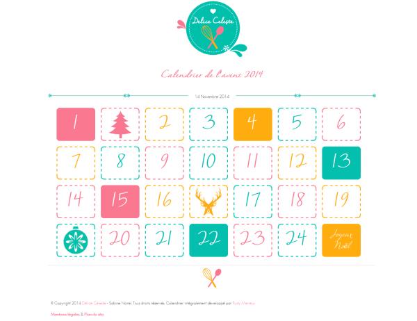 calendrier de l'avent blog cuisine