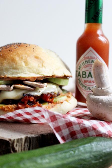 burger-piquant-à-la-ricotta