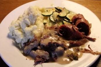 Pot-au-feu beef & saucisson meal