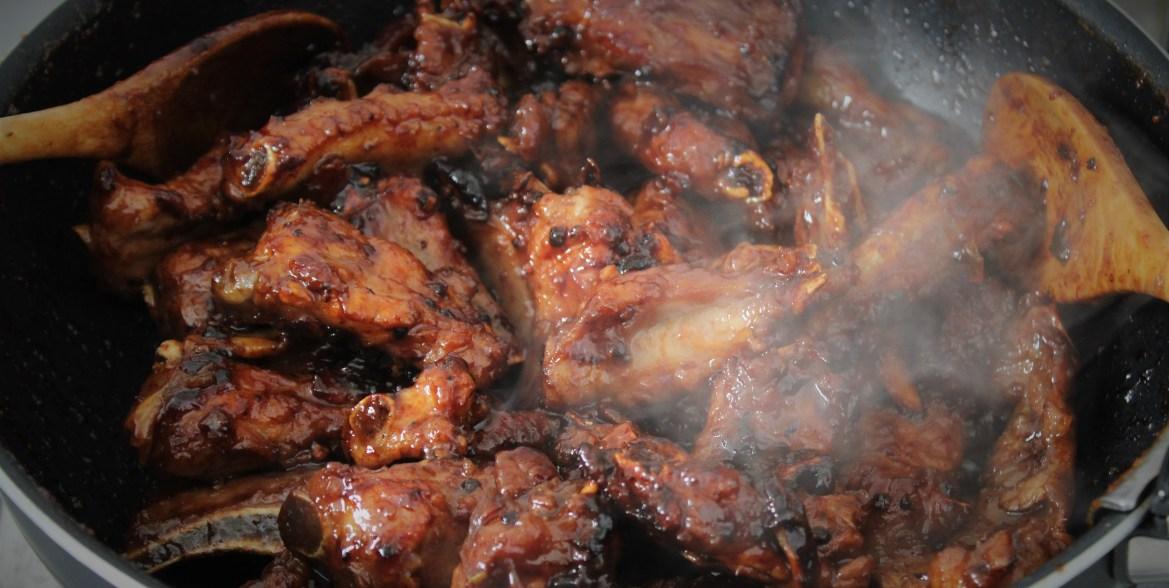 Travers ou Ribs de Porc Caramélisés