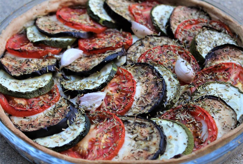 Tarte à l'Anchoïade façon Tian de Légumes