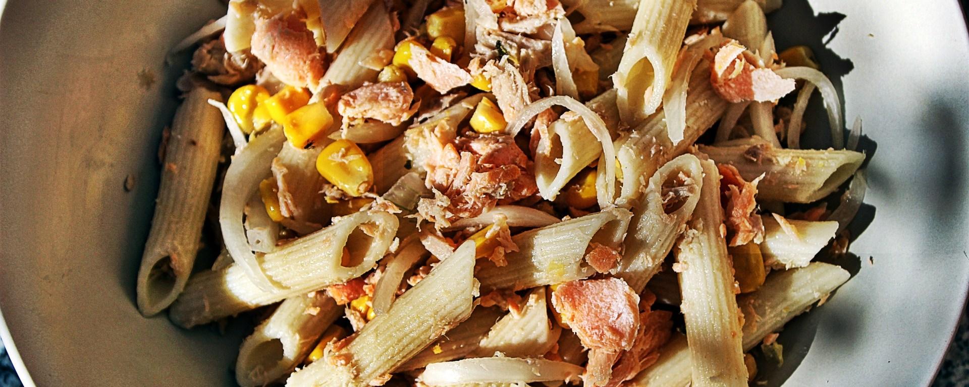 Délicimô ! - Recette Salade de Pâtes Penne à la Truite des Pyrénées - www.delicimo.fr