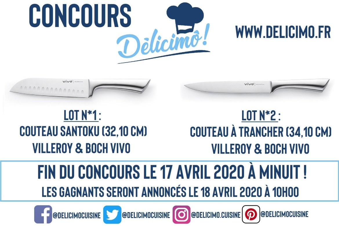 Jeu-Concours : Gagnez 2 Couteaux de Cuisine Professionnels Villeroy and Boch !