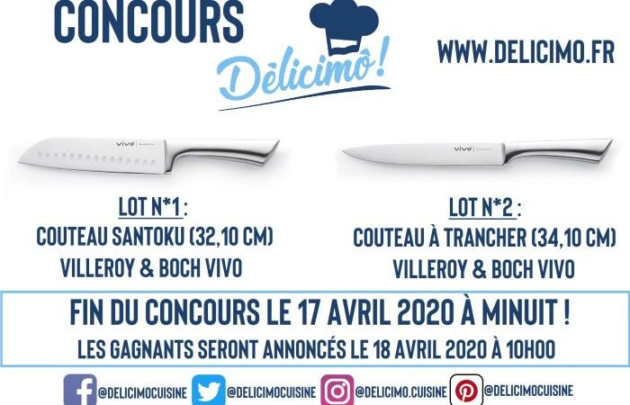 Délicimô ! - Jeu Concours : Gagnez 2 couteaux de cuisine professionnels Villeroy and Boch - www.delicimo.fr