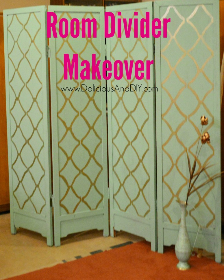 Room Divider Makeover - Delicious And DIY
