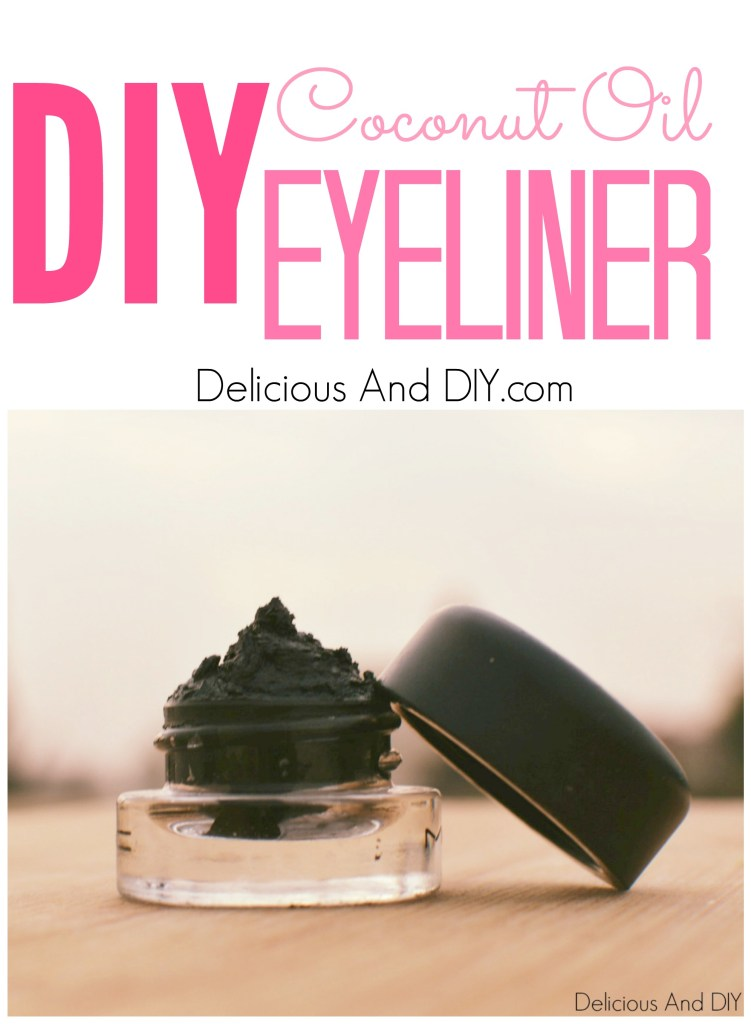 Two Ingredient Coconut Oil Eyeliner- Delicious And DIY