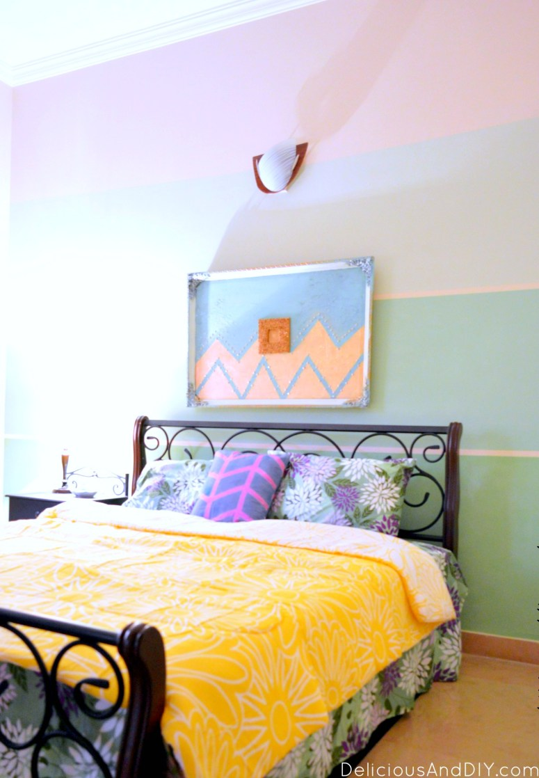 Ombre Wall Room Makeover  Accent Wall  Feature Wall Ideas  Room Makeover Ideas  Masking Tape Projects  Ombre Wall Ideas  Room Decor on a Budget