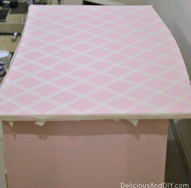 Writing Desk Table Makeover using Masking Tape| Geometric Masking Tape| Geometric Pattern| Upcycled Furniture| Writing Desk Makeover| Home Decor| Chalk Paint Furniture Makeovers