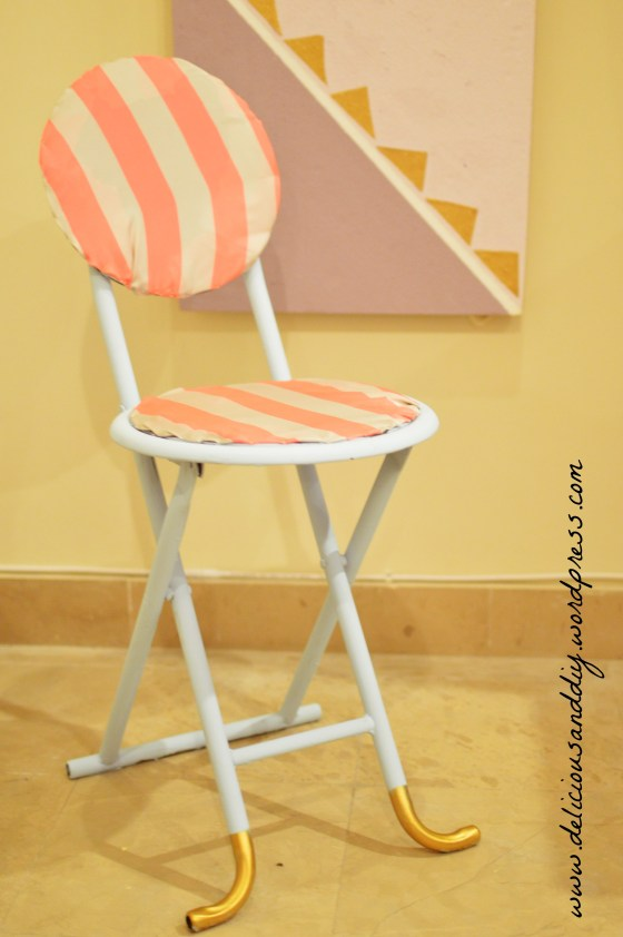 blue stool