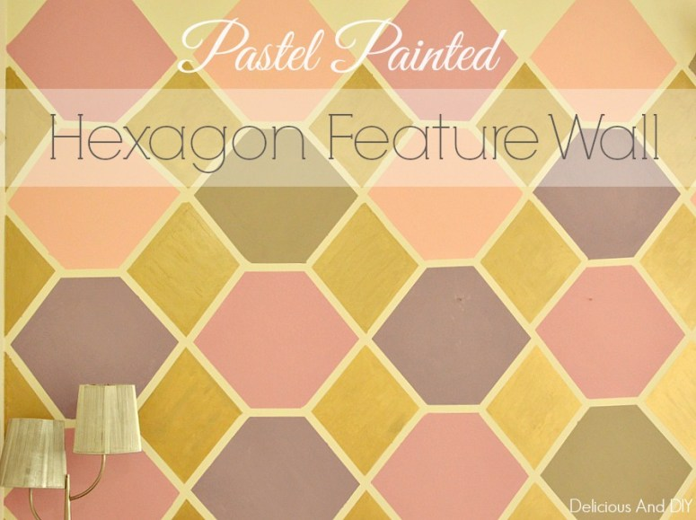 PASTEL PAINTED HEXAGON FEATURE WALL